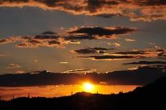 De Zonsondergang van Scottsdalearizona Stock Afbeeldingen