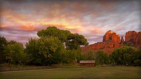 De Zonsondergang van Sedona Stock Afbeeldingen