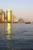 De zonsondergang van Shanghai Royalty-vrije Stock Afbeeldingen