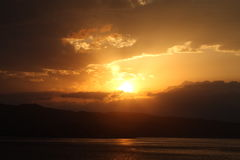 De zonsondergang van Sicilië Royalty-vrije Stock Fotografie