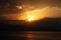 De zonsondergang van Sicilië Royalty-vrije Stock Foto