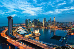 De Zonsondergang van Singapore royalty-vrije stock foto