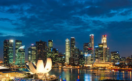 De Zonsondergang van Singapore Royalty-vrije Stock Afbeelding
