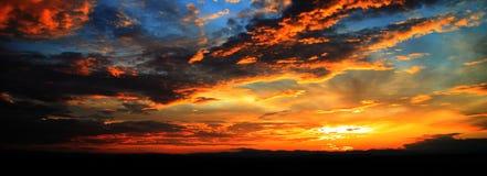 De zonsondergang van Slovenië Royalty-vrije Stock Foto's