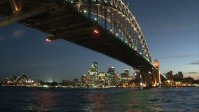 De zonsondergang van Sydney stock footage