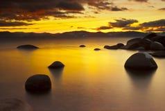 De Zonsondergang van Tahoe royalty-vrije stock afbeeldingen