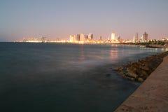 De zonsondergang van Tel Aviv royalty-vrije stock foto's