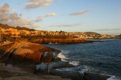 De zonsondergang van Tenerife Stock Fotografie