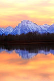 De Zonsondergang van Tetons Royalty-vrije Stock Foto