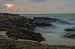 De zonsondergang van Thailand Stock Afbeelding