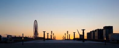 De zonsondergang van Tokyo royalty-vrije stock afbeelding