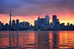 De Zonsondergang van Toronto   Stock Foto's