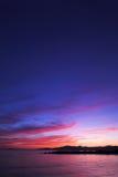 De zonsondergang van Vancouver Stock Fotografie