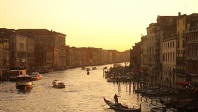 De zonsondergang van Venetië stock footage