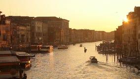 De zonsondergang van Venetië stock video