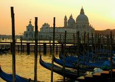 De zonsondergang van Venetië stock fotografie