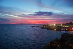 De Zonsondergang van Willemstad Royalty-vrije Stock Foto's