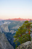De Zonsondergang van Yosemite Stock Fotografie