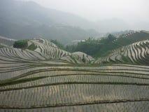 De zonsondergang van Yunnanchina Stock Foto's