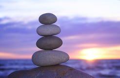 De zonsondergang van Zen Stock Fotografie