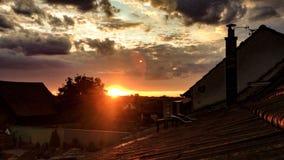 De zonsondergang van de zomer stock fotografie