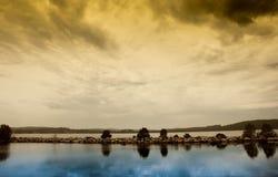 De Zonsondergangbezinning van de Batemansbaai in de Baai Royalty-vrije Stock Foto
