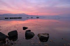 De zonsondergangbezinning van de winter Royalty-vrije Stock Foto's