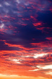 De zonsonderganghemel Stock Foto's