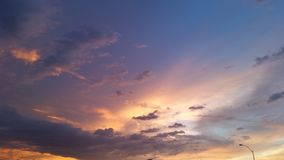 De zonsonderganghemel van Arizona Stock Afbeeldingen