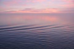 De de zonsondergangkleuren van de Middellandse Zee Stock Afbeelding