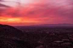 De Zonsonderganglandschap van Arizona royalty-vrije stock foto's