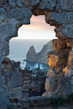 De zonsonderganglandschap van de Zwarte Zee Royalty-vrije Stock Foto