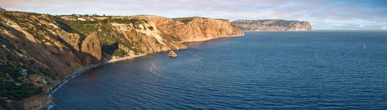 De zonsonderganglandschap van de Zwarte Zee Stock Fotografie