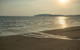 De zonsondergangmening van Nice op Krabi-vastelandsgebied, krabi-Thailand stock afbeelding