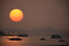 De zonsondergangpattaya van Thailand Royalty-vrije Stock Foto's
