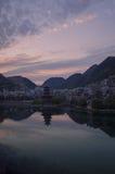 De zonsondergangscène 8 van de Zhenyuan oude stad Royalty-vrije Stock Fotografie