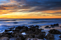 De Zonsondergangstrand van Florida stock foto