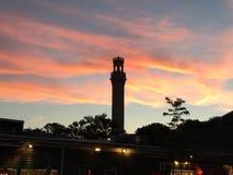De zonsondergangtoren van de oorsprongsstad Royalty-vrije Stock Foto