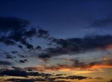 De Zonsondergangwolken van Arizona royalty-vrije stock fotografie
