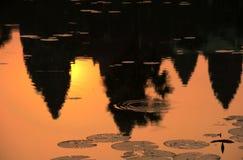 De zonsopgang in angkor wat, Kambodja Royalty-vrije Stock Fotografie