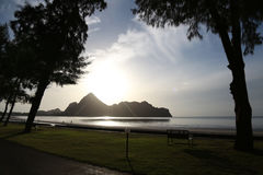 De zonsopgang bij het overzees Royalty-vrije Stock Afbeeldingen