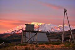 de zonsopgang in de bergen Royalty-vrije Stock Fotografie