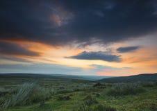 De zonsopgang over legt vast stock fotografie
