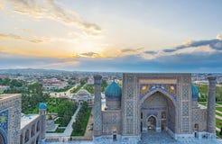 De zonsopgang in Samarkand royalty-vrije stock foto's