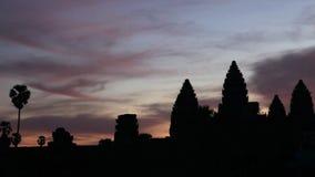De zonsopgang van Angkorwat stock videobeelden