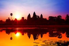 De zonsopgang van Angkorwat in Siem oogst Royalty-vrije Stock Fotografie