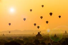 De zonsopgang van Bagan royalty-vrije stock afbeelding