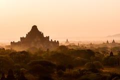 De zonsopgang van Bagan stock foto
