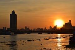 De zonsopgang van Bangkok Stock Fotografie