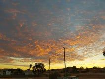 De zonsopgang van Cooberpedy south australia de binnenland natuurlijke kleuren Stock Foto